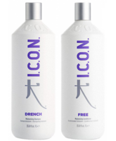 Icon Drench Moisture Shampoo  1000 ml  + Icon Free Conditioner 1000 ml