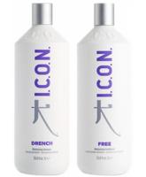 Icon Drench Moisture Shampoo  1000 ml  + Icon Free Conditioner 1000 ml