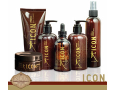 PACK ICON INDIA COMPLETO Shampoo, Conditioner, Oil, Healing, 24K, Curl Cream 250 ml