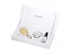Balmain Mini Silver Spa Brush and Mirror