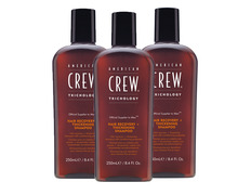 Pack 3 American Crew Hair Recovery + Thickening Shampoo