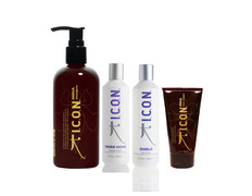 Pack Icon India champu 1L+ Inner 250ml + Shield + India Curl cream