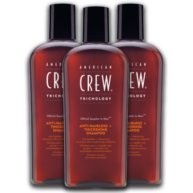 Pack 3 American Crew Anti-Hairloss + Thickening Shampoo
