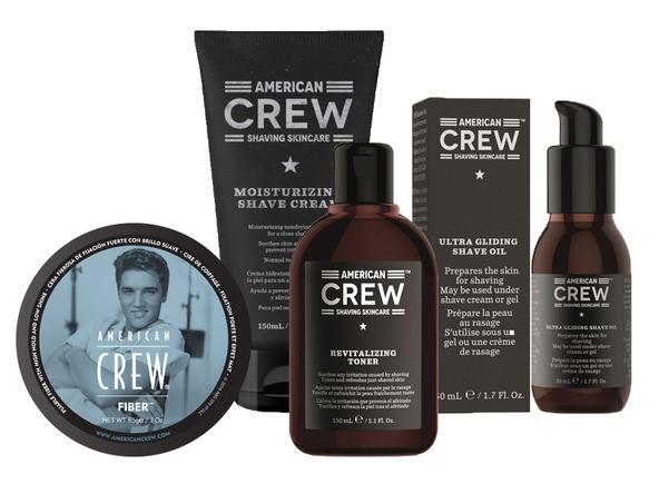 pack american crew afeitado y fiber